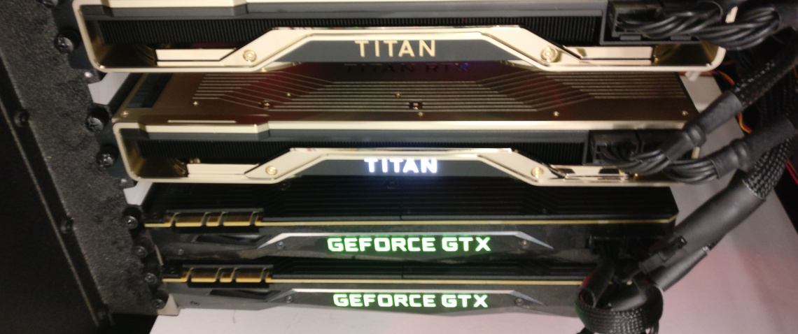 Deep learning with Titan RTXs
